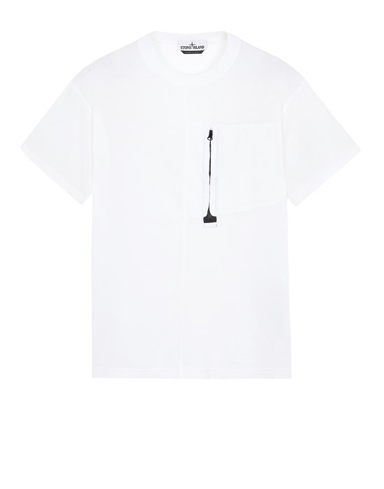 STONE ISLAND 20158 Short sleeve t-shirt Man White
