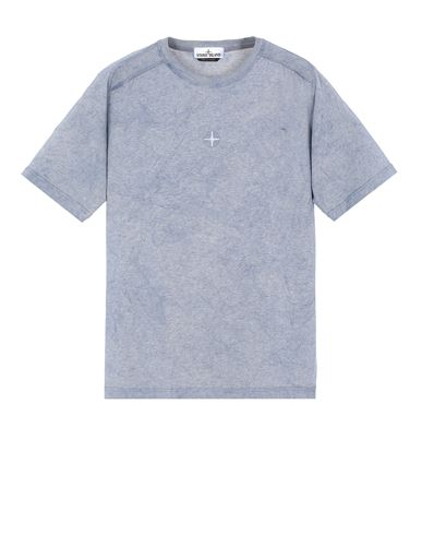 STONE ISLAND 22993 DUST COLOR TREATMENT  Short sleeve t-shirt Man Avio Blue MELANGE USD 218