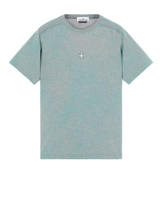 STONE ISLAND 22993 DUST COLOUR TREATMENT  Short sleeve t-shirt Man AQUA MELANGE
