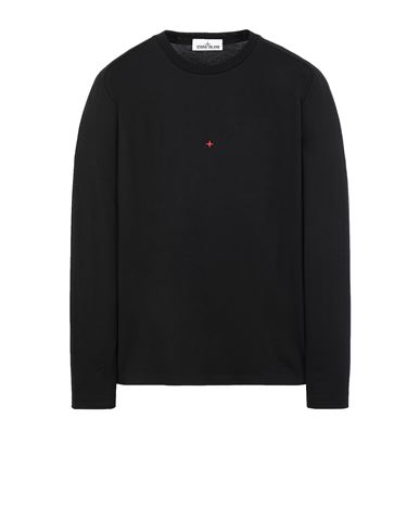 STONE ISLAND 215X3 STONE ISLAND MARINA<br>POLYESTER SEAQUAL® YARN/COTTON JERSEY  Long sleeve t-shirt Man Black USD 258