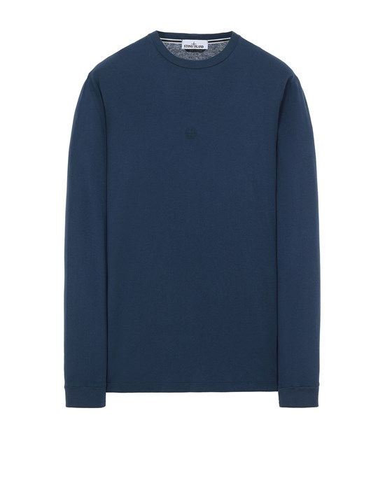 STONE ISLAND 2ML66 'BLOCK TWO' Long sleeve t-shirt Man Avio Blue