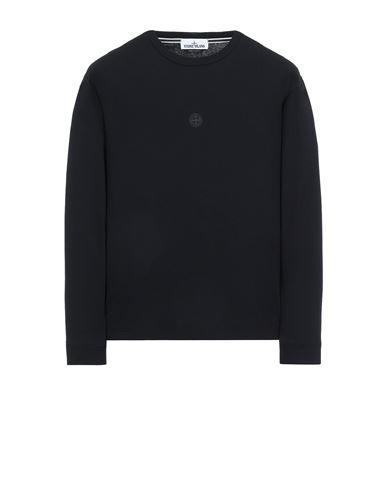 STONE ISLAND 2ML66 'BLOCK TWO' Langärmliges Shirt Herr Schwarz EUR 155
