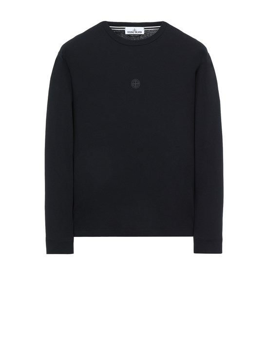 STONE ISLAND 2ML66 'BLOCK TWO' Long sleeve t-shirt Man Black