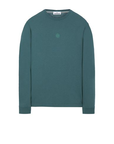 STONE ISLAND 2ML66 'BLOCK TWO' Long sleeve t-shirt Man Dark Teal Green EUR 118