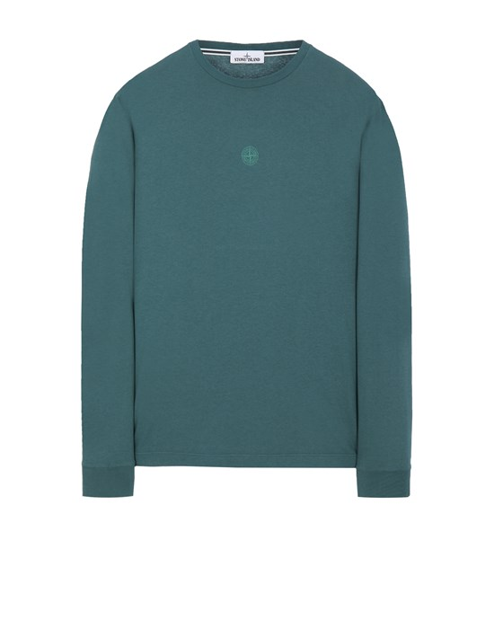 STONE ISLAND 2ML66 'BLOCK TWO' Long sleeve t-shirt Man Dark Teal Green