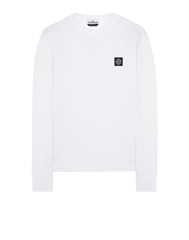 STONE ISLAND 22713 T-shirt manches longues Homme Blanc EUR 129