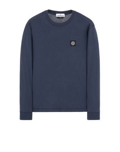STONE ISLAND 22713 Long sleeve t-shirt Man Avio Blue EUR 129