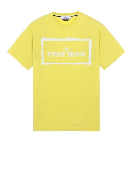 STONE ISLAND 2NS80 'STENCIL ONE' Short sleeve t-shirt Man Pistachio Green