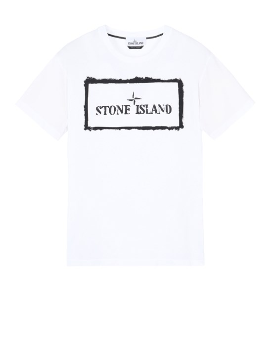 STONE ISLAND 2NS80 'STENCIL ONE' Short sleeve t-shirt Man White