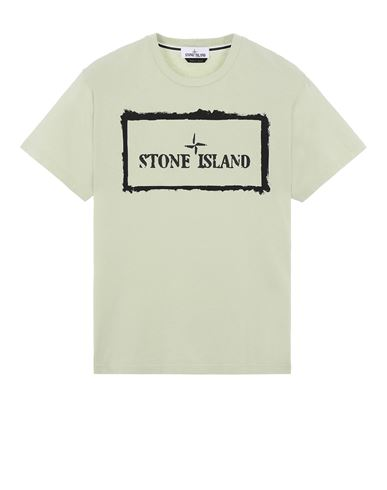 STONE ISLAND 2NS80 'STENCIL ONE' Short sleeve t-shirt Man Light Green EUR 125