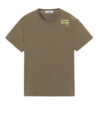 STONE ISLAND 2NS56 'SMALL LOGO TWO' 반소매 티셔츠 남성 올리브 그린 KRW 176300