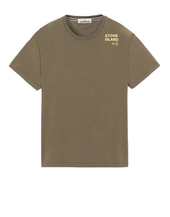 Short sleeve t-shirt Man 2NS56 'SMALL LOGO TWO' Front STONE ISLAND