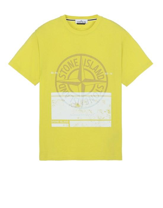 STONE ISLAND 2NS65 'BLOCK ONE' Short sleeve t-shirt Man Pistachio Green