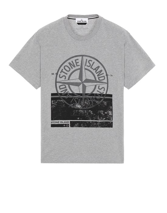 STONE ISLAND 2NS65 'BLOCK ONE' Short sleeve t-shirt Man Dark Grey