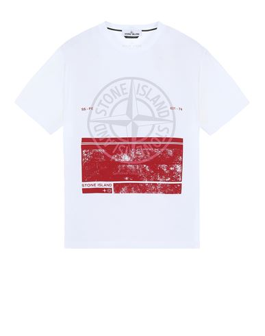 STONE ISLAND 2NS65 'BLOCK ONE' Short sleeve t-shirt Man White EUR 135