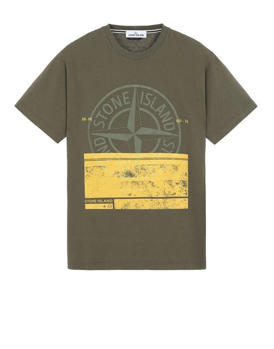 STONE ISLAND 2NS65 'BLOCK ONE' Short sleeve t-shirt Man Olive Green