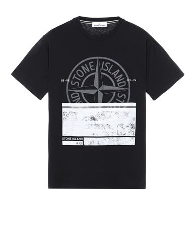 STONE ISLAND 2NS65 'BLOCK ONE' Short sleeve t-shirt Man Black USD 131
