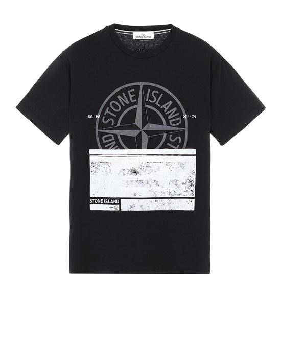 STONE ISLAND 2NS65 'BLOCK ONE' Short sleeve t-shirt Man Black