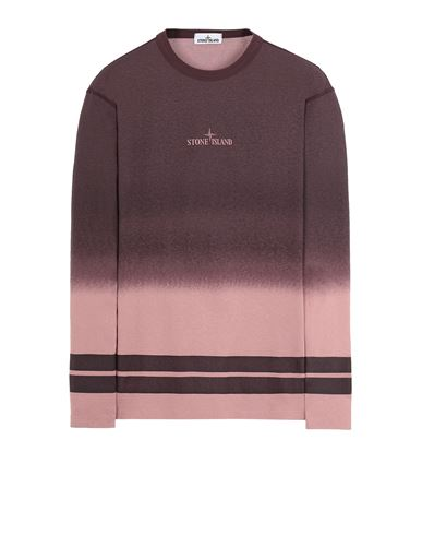 STONE ISLAND 23541 'SHADED PRINT' + STRIPES Long sleeve t-shirt Man Dark Burgundy EUR 229