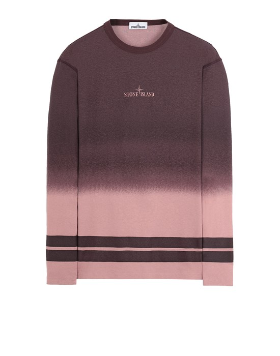 Long sleeve t-shirt Man 23541 'SHADED PRINT' + STRIPES Front STONE ISLAND