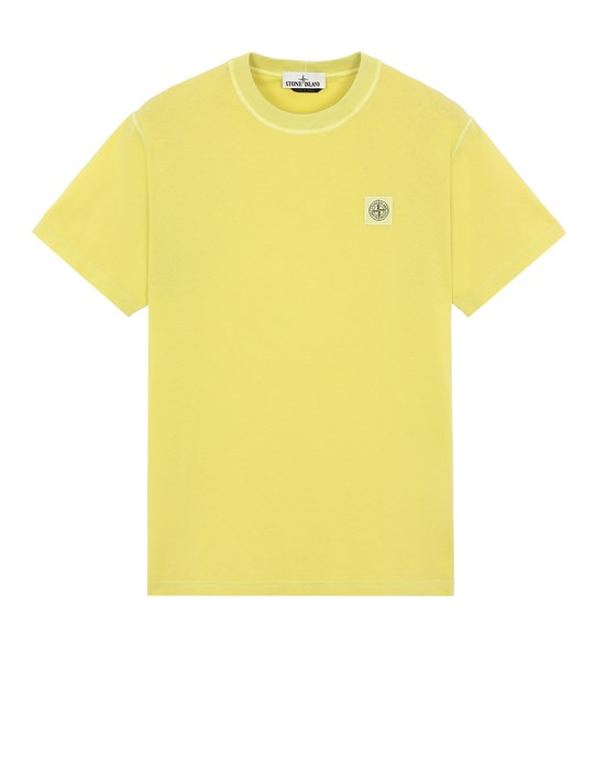 Sold out - STONE ISLAND 23757 'FISSATO' TREATMENT  Short sleeve t-shirt Man Pistachio Green