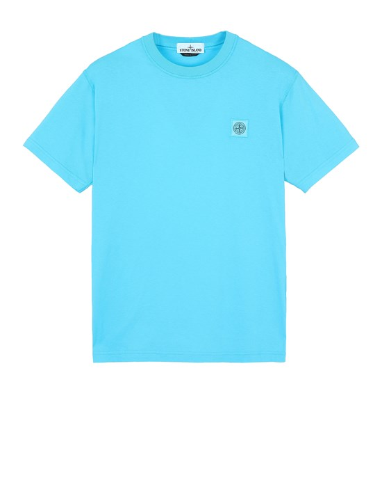STONE ISLAND 23757  'FISSATO' TREATMENT  Short sleeve t-shirt Man Turquoise