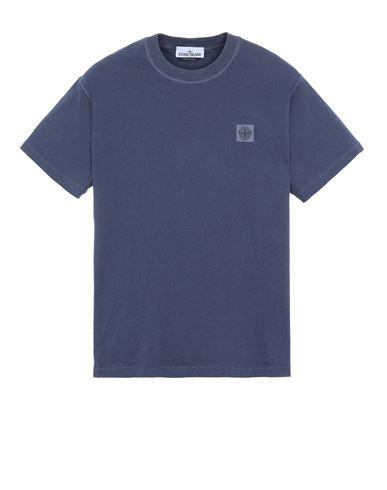 STONE ISLAND 23757 'FISSATO' TREATMENT  Short sleeve t-shirt Man Avio Blue EUR 115