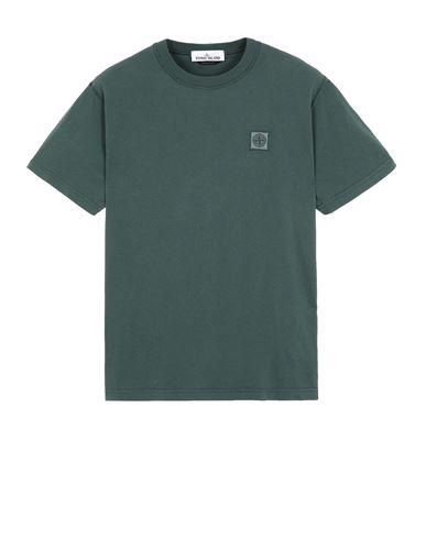 STONE ISLAND 23757 'FISSATO' TREATMENT  Short sleeve t-shirt Man Dark Teal Green USD 112