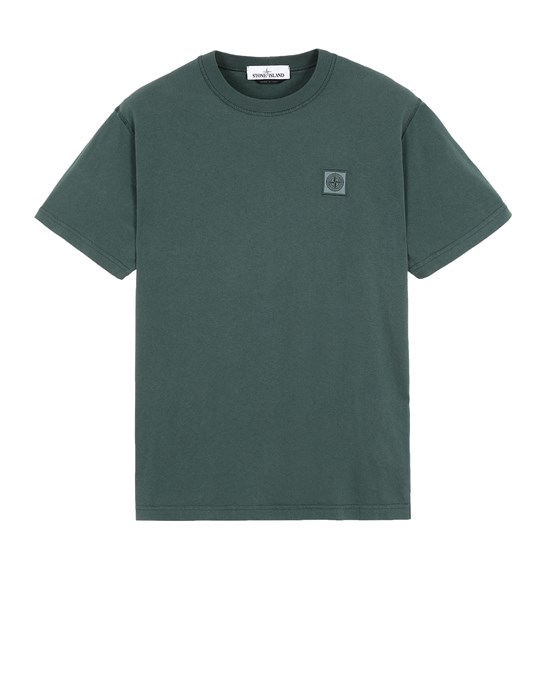 Short sleeve t-shirt Man 23757 'FISSATO' TREATMENT Front STONE ISLAND