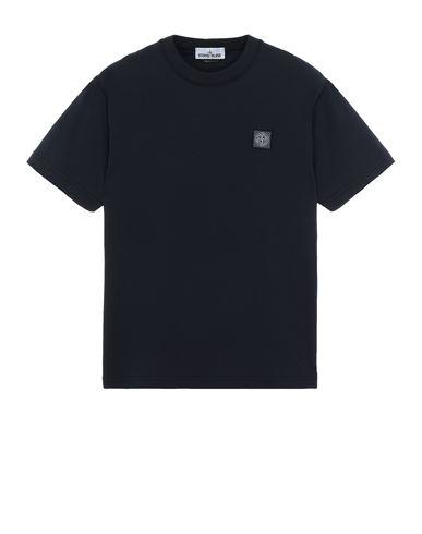 STONE ISLAND 23757 'FISSATO' TREATMENT  Short sleeve t-shirt Man Blue USD 112