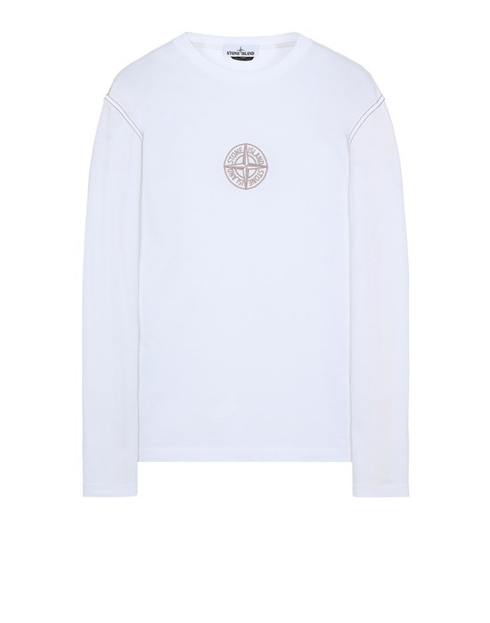 STONE ISLAND 20744 Long sleeve t-shirt Man White