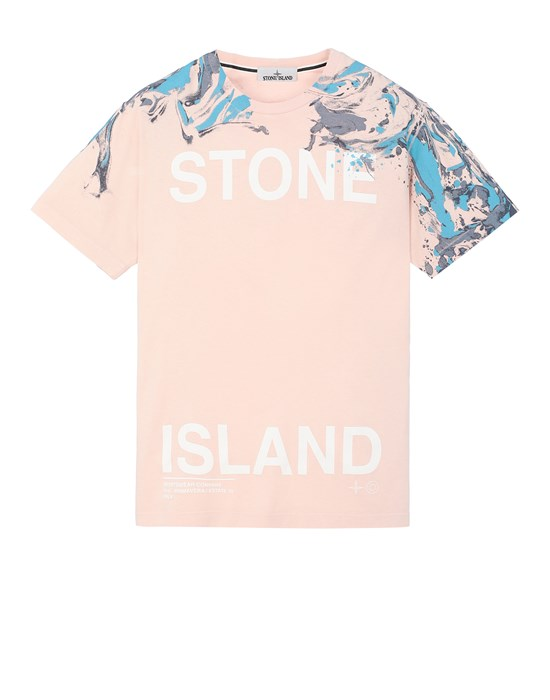 STONE ISLAND 2NS84 'MARBLE TWO' Short sleeve t-shirt Man Pastel pink
