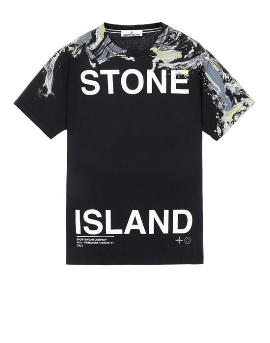 STONE ISLAND 2NS84 'MARBLE TWO' Short sleeve t-shirt Man Blue