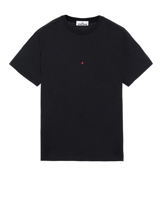 Sold out - Other colors available STONE ISLAND 216X3 STONE ISLAND MARINA<br>POLYESTER SEAQUAL® YARN/COTTON JERSEY  Short sleeve t-shirt Man Black