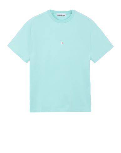 STONE ISLAND 216X3 STONE ISLAND MARINA<br>POLYESTER SEAQUAL® YARN/COTTON JERSEY  Short sleeve t-shirt Man Aqua EUR 149
