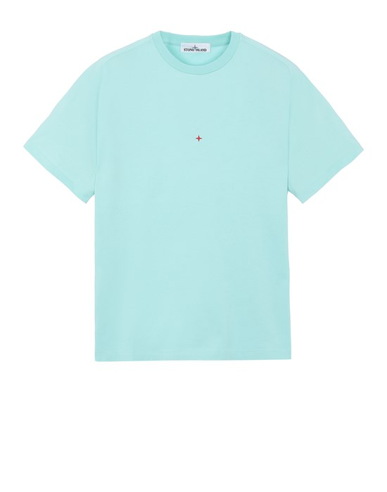 Short sleeve t-shirt Man 216X3 STONE ISLAND MARINA<br>POLYESTER SEAQUAL® YARN/COTTON JERSEY Front STONE ISLAND