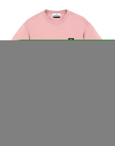 STONE ISLAND 24113 Short sleeve t-shirt Man Pink Quartz EUR 83