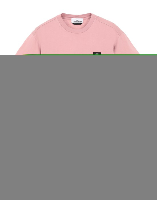 STONE ISLAND 24113 Short sleeve t-shirt Man Pink Quartz