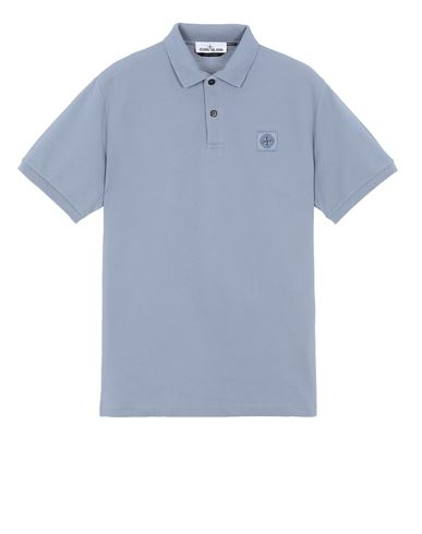 STONE ISLAND 22R39 Polo shirt Man Pastel Blue USD 125