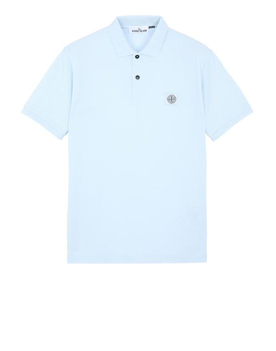 STONE ISLAND 22R39 Polo shirt Man Sky Blue