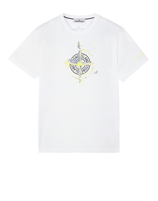 STONE ISLAND 2NS83 'MARBLE ONE' Short sleeve t-shirt Man White