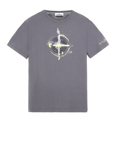 STONE ISLAND 2NS83 'MARBLE ONE' Short sleeve t-shirt Man Blue Grey EUR 125