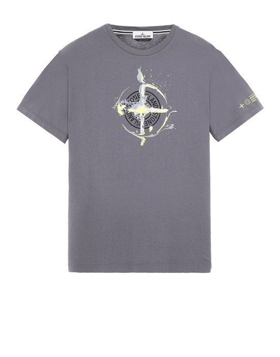 STONE ISLAND 2NS83 'MARBLE ONE' Short sleeve t-shirt Man Blue Grey