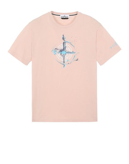 STONE ISLAND 2NS83 'MARBLE ONE' Short sleeve t-shirt Man Pastel pink
