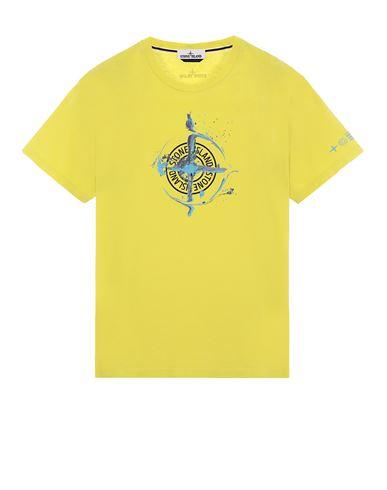 STONE ISLAND 2NS83 'MARBLE ONE' Short sleeve t-shirt Man Pistachio Green EUR 125