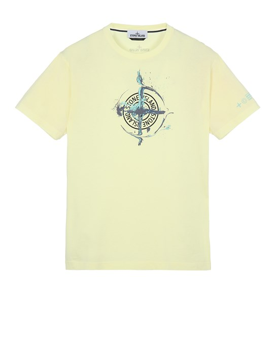 STONE ISLAND 2NS83 'MARBLE ONE' Short sleeve t-shirt Man Lemon