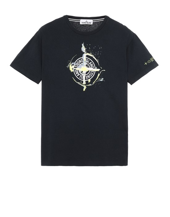 STONE ISLAND 2NS83 'MARBLE ONE' Short sleeve t-shirt Man Blue