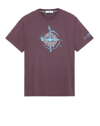 STONE ISLAND 2NS83 'MARBLE ONE' Short sleeve t-shirt Man Dark Burgundy EUR 125