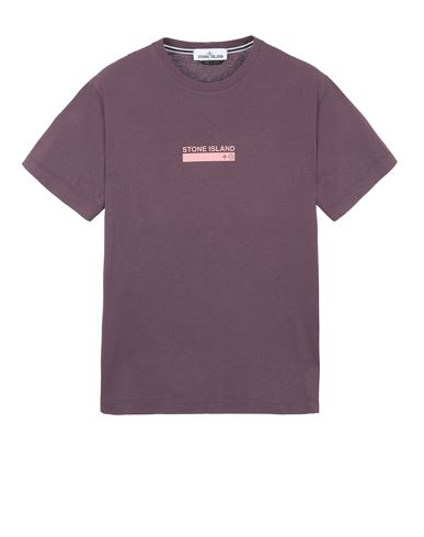 STONE ISLAND 2NS55 'SMALL LOGO ONE' Short sleeve t-shirt Man Dark Burgundy EUR 115