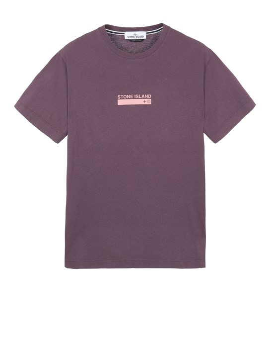 STONE ISLAND 2NS55 'SMALL LOGO ONE' Short sleeve t-shirt Man Dark Burgundy